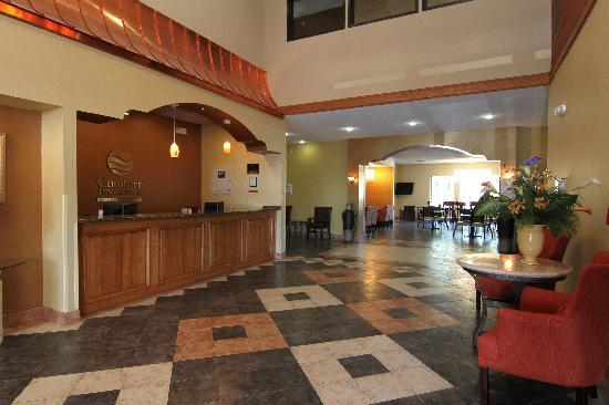 Comfort Inn & Suites Burnet: Our lobby is the perfect spot to relax after a long day of work and travel.