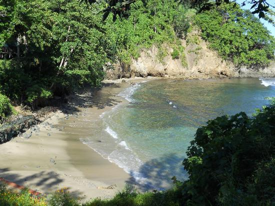 Culloden Bay, Tobago: pvt beachfront view frm lookout