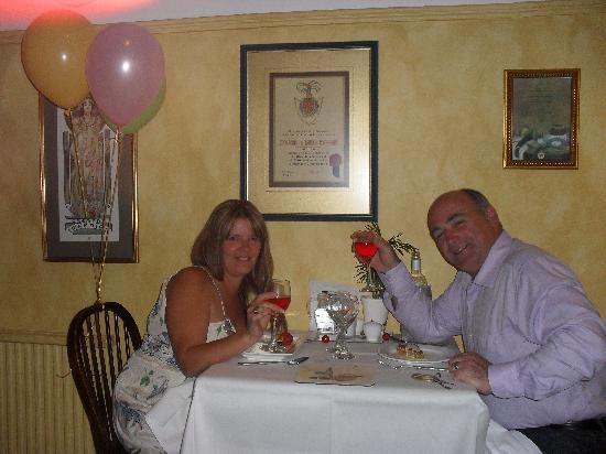Ashfield House: anniversary meal