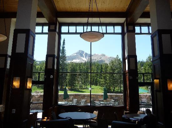 The Lodge at Big Sky: View from inside the hotel