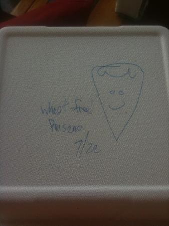 Transfer Pizzeria Cafe: my pizza went home happy
