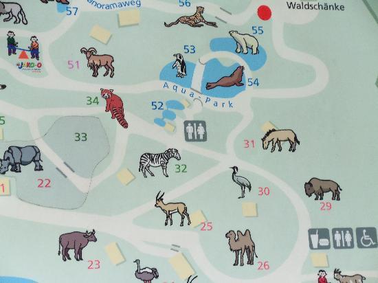 Nuremberg Zoo: Map