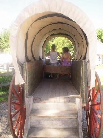 On The Banks Of Plum Creek Covered Wagon Photo Op...