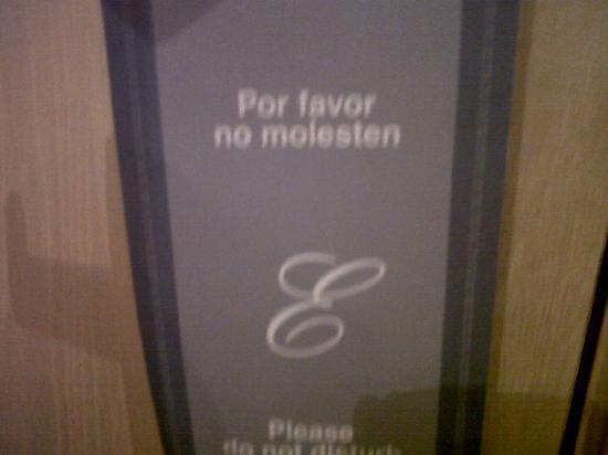 Hotel Elba Sara : We found this sign absolutely hilarious! 'No molesting!' Haha!