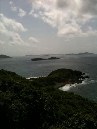 Concordia Eco-Resort: View of the eastern end of St. John and various islets