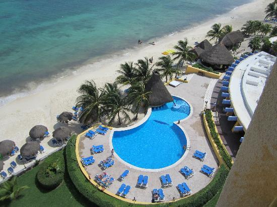 Melia Vacation Cozumel Golf - All Inclusive: view from our ocean front balcony
