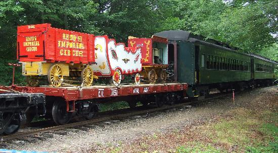 Essex Steam Train and Riverboat: Antigue Circus Cars