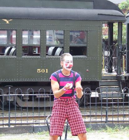 Essex Steam Train and Riverboat: Juggling Clowns