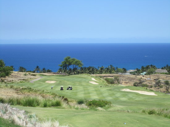 Hapuna Golf Course: Hapuna Hole 12 Par 4 with ocean view