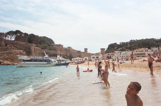 Platja Gran: Beach with castle in background