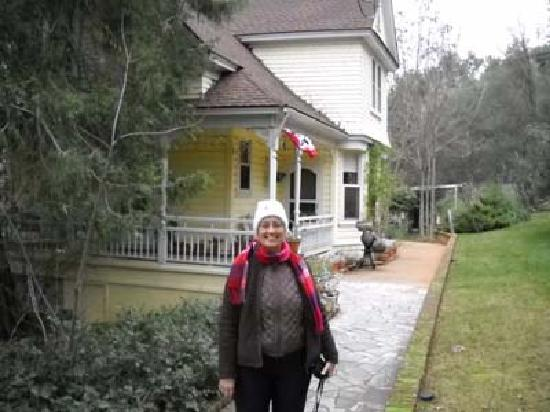in front of the Harlan House