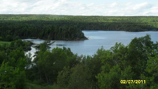 Port Blandford, Kanada: view from our window