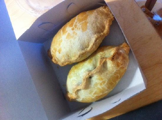 British Pantry: Chicken curry pasty and a Lancashire pasty