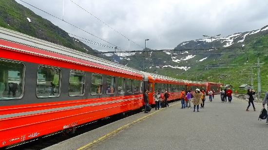 Geilo, Norge: Flams train station