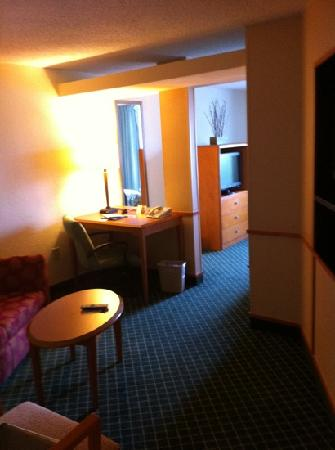 Fairfield Inn Jackson Airport: upgraded suite