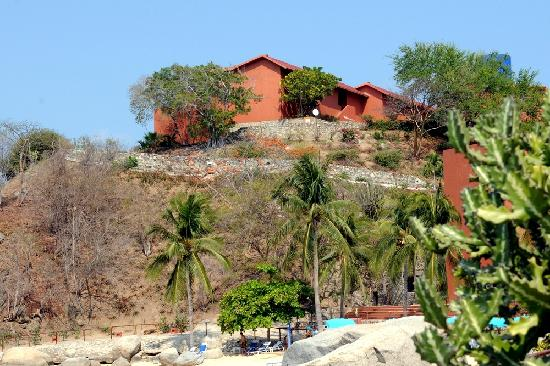 """Las Brisas Huatulco: View of """"blue section""""overlooking the bay"""