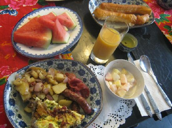 Boao Inn B&B: Typical Breakfast