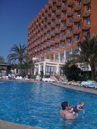 HSM Canarios Park : hotel from pool