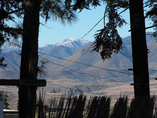 Malealea Lodge: As good a view as any bedroom can provide