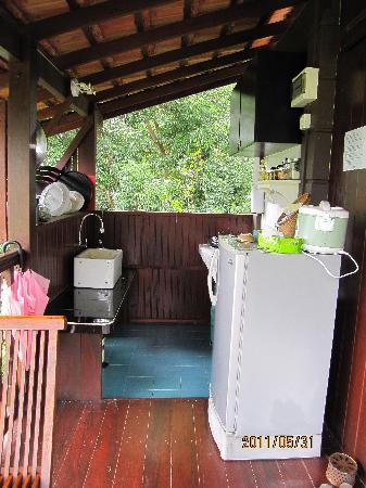 The Dusun : Open kitchen in Berembun