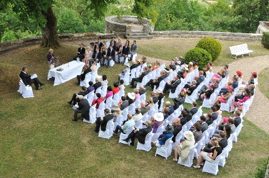 Hattonchatel Chateau : A view from the castle of the wedding