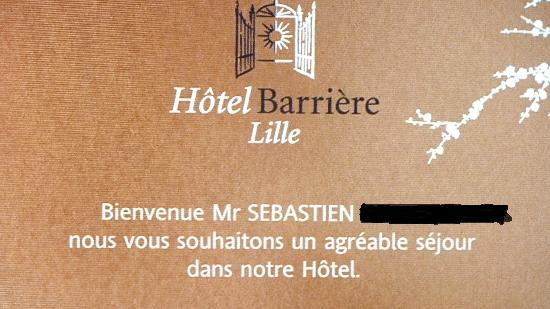 Hôtel Barrière Lille: c'est chic sur l'ecran tv!