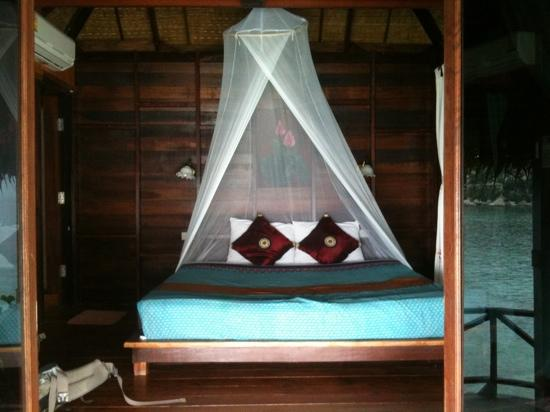Blue Heaven Resort: our bungalow at new heaven--looks beautiful but lots of insects