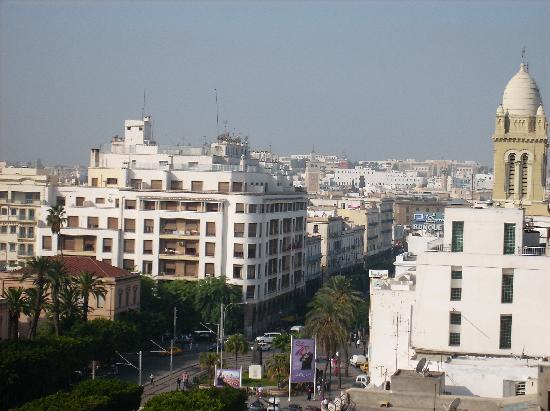 El Hana International: View from the hotel rom to Av Habib Bourgiba