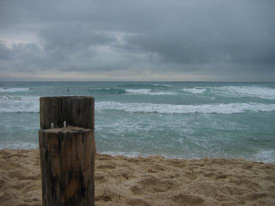 Praia Mole - Aun en los dias de tormenta esta playa es hermosa.