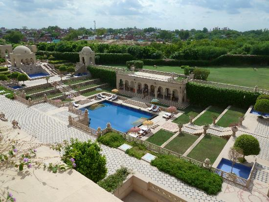 The Oberoi Amarvilas: View of pool from our room