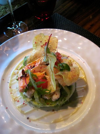 L'Atelier de Joel Robuchon: lobster salad - pretty but soggy