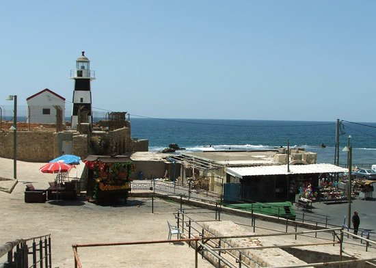 Akko, Israel: By the sea, the light house.