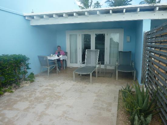 Elbow Beach, Bermuda: The patio of out suite