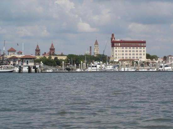Saint Augustine, FL: st Augustine from the water
