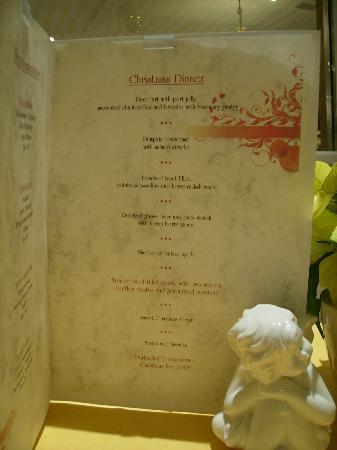Parkhotel Tristachersee: Christmans Dinner Menu