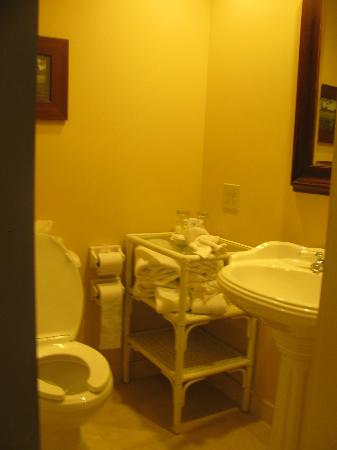 Heritage Hotel, Golf, Spa & Conference Center: small bathroom