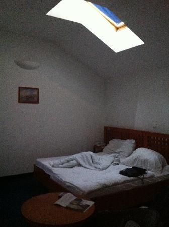 Alfa Hotel Fiesta: Habitación con ventana en techo