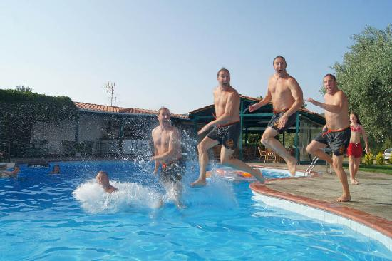 Hotel pool with people  People went wild in the swimming pool ! - Picture of Hotel ...