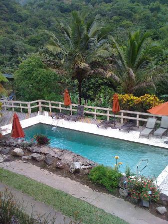 Casa Grande Mountain Retreat: non-heated pool. view from main communal porch