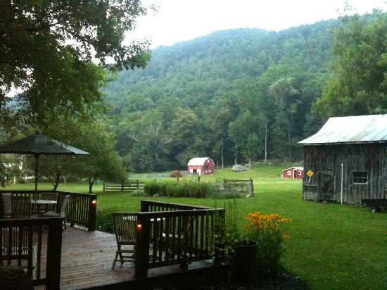 The Inn at Lost River: view from deck of Smokehouse
