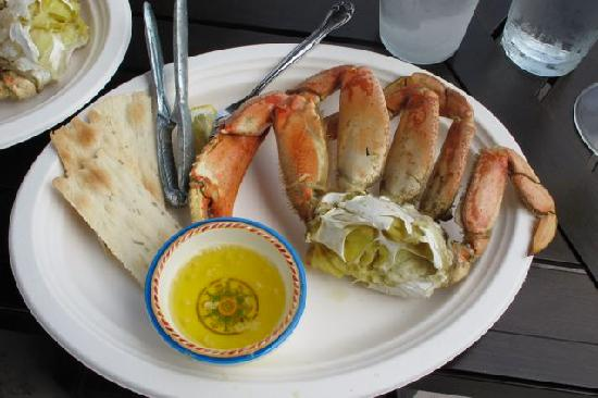 Great Northern Garlic Company : crab for lunch