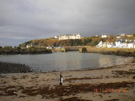 Portpatrick, UK: a view of hotel from the waters edge