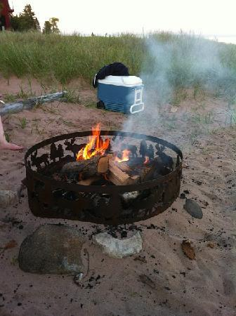 La Pointe, WI: Beach/Fire Ring