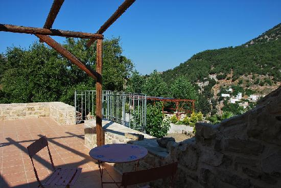 Akros Oreon Green Small Hotel: our terrace