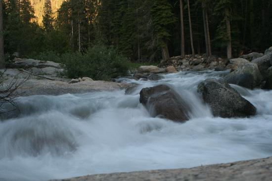 Lodgepole Campground: High river