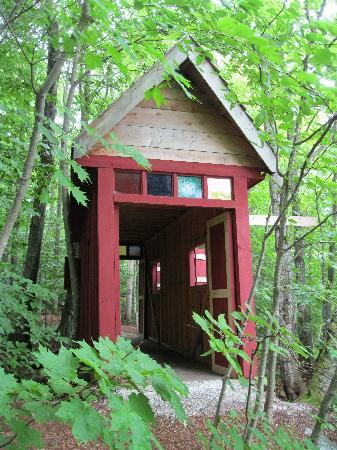 "Lotus Lodge Inn: ""Covered Bridge"" on property"