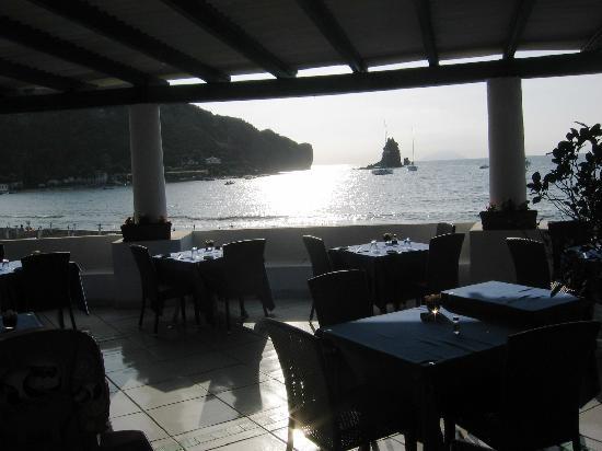 Les Sables Noirs: vista terrazza ristorante