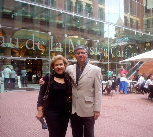 Palau de la Musica Orfeo Catala: Imagen nuestra a la entrada del Palacio de la Musica Catalana, Barcelona