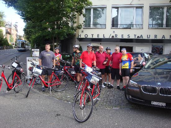 Sorell Hotel Rex: Getting ready to start biking at Rex Hotel.