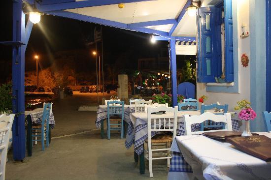 Finiki View : ristorante dell'Hotel nel porticciolo